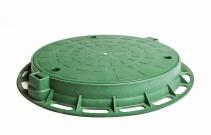 Люк большой зеленый
